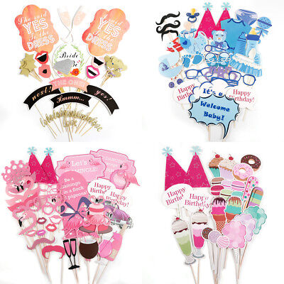 Photo Booth Props Selfie Props for Birthday Party Weddings Baby Shower Festivals