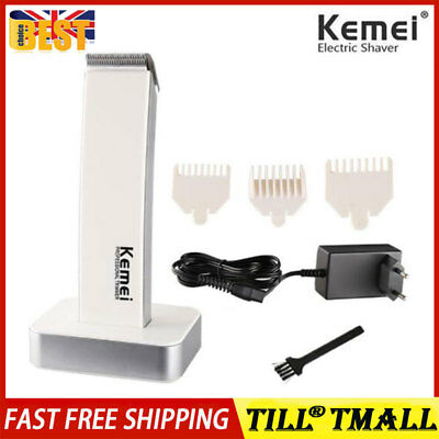 Mens Cordless Electric Rechargeable Hair Clipper Trimmer Beard Body Shaver White