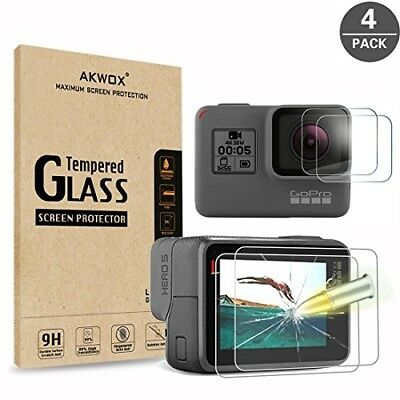 Gopro Hero 5 6 Tempered Glass Screen Protector Accessories Camera Film Set New
