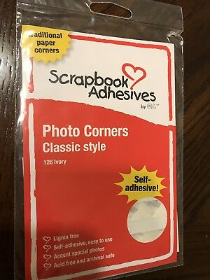 Scrapbook Adhesives Ivory Photo Corners, New In Package