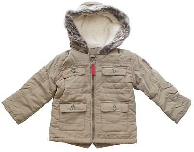 Baby Coat Parka Boys Bears 1986 Quilted Hooded Fleece Lined Parker 0 - 24 Months