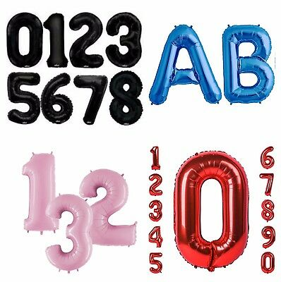 """18"""" Giant Foil Number Balloons letter Air/No Helium Birthday Age Party Wedding"""
