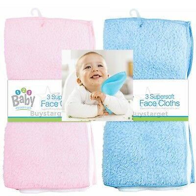 🔥 6 Pack Face Cloth Super Soft Microfibre Flannels Wash Feeding Baby Bath Towel