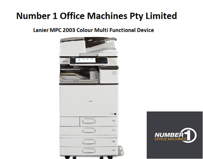 Ricoh (Lanier) MPC 2003 Colour Copy, Network Print/Scan/Email/Fax,Duplex