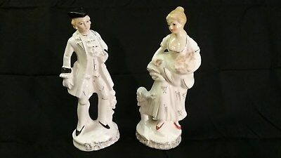 Antique Porcelain Victorian Couple Figurine, Made in Japan - collectible