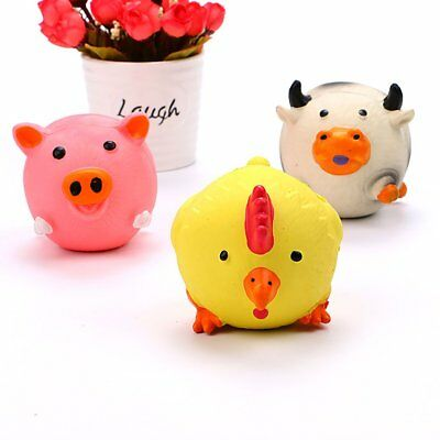 Pet Dog Toy Natural Latex Sounding Toy Molars Spherical Pig Chicken Cattle AZ