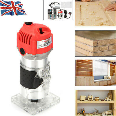 800W Wood Trim Router Electric Hand Trimmer Laminate Palm Joiner Tool Security