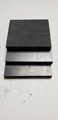 Lot of 3 Carbon Graphite Stock Remnants - EDM, Glass Blowing, Welding, Art A9