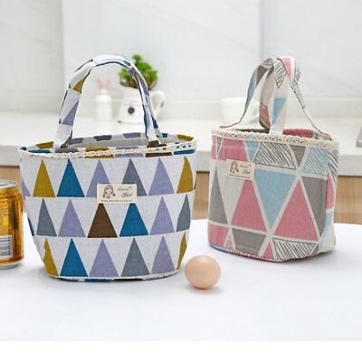 Japanese cotton and linen drawstring insulation lunch bag AZ
