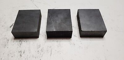 Lot of 3 Carbon Graphite Stock Remnants - EDM, Glass Blowing, Welding, Art A11