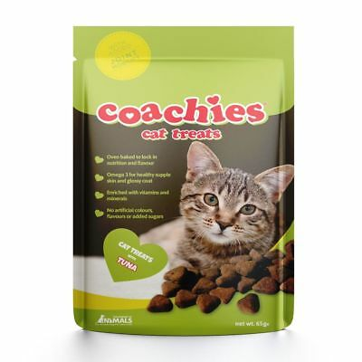 Coachies Cat Treats Tuna Flavour Joint Mobility 65g With Omega 3 & Taurine
