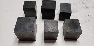 Lot of 6 Carbon Graphite Stock Remnants - EDM, Glass Blowing, Welding, Art A12