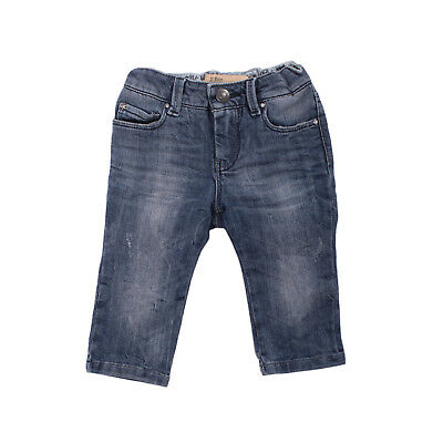 JOHN GALLIANO KIDS Jeans Size 6M Stretch Blue Distressed Style Faded Effect