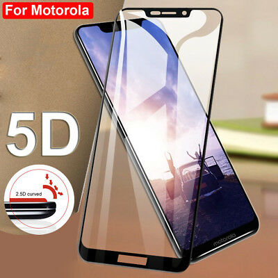 5D Full Tempered Glass Film Screen Protector for Motorola Moto E4 E5 Plus/G6 G7