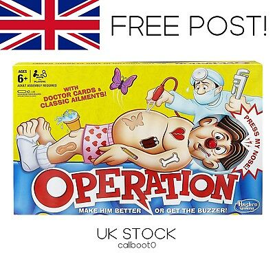 2018 New Operation Classic Children's Family Game Hasbro **UK STOCK FREE POST