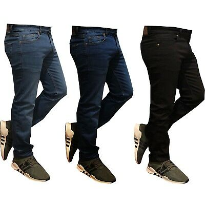 New Mens Denim Skinny Slim Fit Stretch Jeans Pants Trousers All Size Waist 30-50