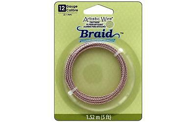 Artistic Wire Braid 12Ga 2.1mm Rose Gold 5ft
