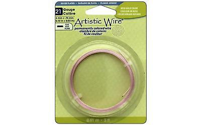 Artistic Wire Flat 21Ga 3mm Rose Gold Color 3ft