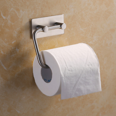 Toilet Bathroom Roll Holder Bathroom Paper Wall Mounted Self Adhesive Home Decor