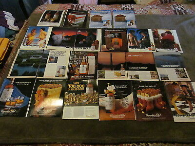 19 Fabulous Vintage Assorted Canadian Club/CC Magazine Ads 1980's And Up - LOOK!