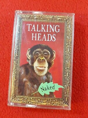 Vintage 1988 Cassette Tape : TALKING HEADS - Naked : U.S. Issue + Lyric Booklet