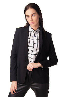 THEYSKENS' THEORY Blazer Jacket Size 4 / S Wool Blend Made in USA RRP €610