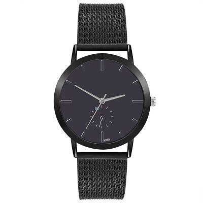 Luxury Business Styel Men Big Round Dial Pointer Fashion Male Watches PVC Band A