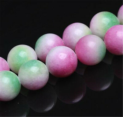 "1pcs Red and green precious jade Gemstone Loose bead 15"" Opaque Accessories"