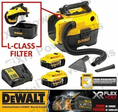 Dewalt DCV584L-GB Flexvolt 54V Cordless/Corded XR Wet/Dry Vacuum 54 V 300 W Body Only Yellow