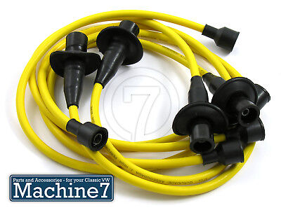 Classic VW Beetle Engine Ignition Spark Plug HT Leads YELLOW T2 Camper Van Bug