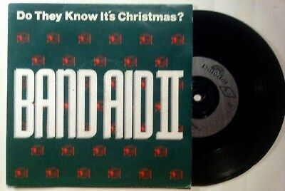 """BAND AID II do they know it´s christmas UK VINYL 7"""" 45 POLYDOR 1989"""