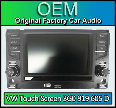 VW Golf MK7 Sat Nav display screen, 3G0919605D navigation touchscreen panel