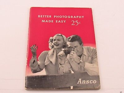 1947 ANSCO Better Photography Made Easy Booklet : Illustrated