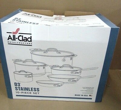 All-Clad Metalcrafters D3 Stainless 10-piece Set  401877-R