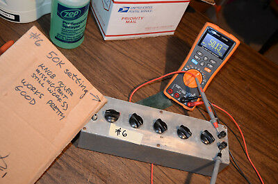 Tested Eico 1171 Resistance Decade Substition Box 1 Ohm To 99.99Kohm #6