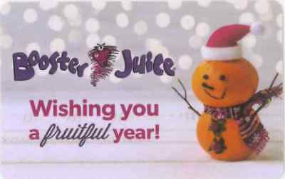 Gift Card: Booster Juice (Canada) Christmas Orange Snowman, $0 collectible