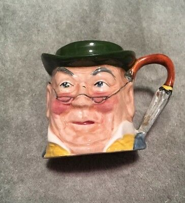 Vintage MR PICKWICK SYLVAC Staffordshire UK Hand Painted Character Jug #4433