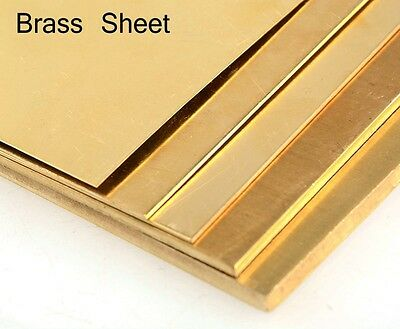 1.5mm Brass sheet plate guillotine cut model making various sizes