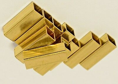 BRASS BOX SECTION CZ108 - SQUARE TUBE/ PIPE- multi widths & lengths