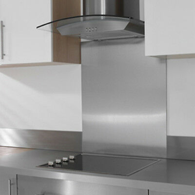 Stainless Steel Splashback Brushed Finish - Various Sizes - UK made