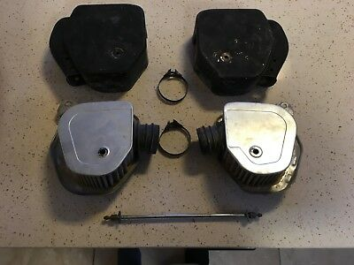 Honda CL350 AIR FILTER CLEANER BOXES & ELEMENTS Left & Right with Pin and clips