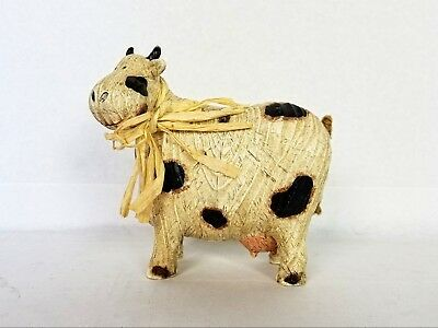 Cute Cast Resin Cow figurine Shabby Chic Country Kitchen Decor non-breakable