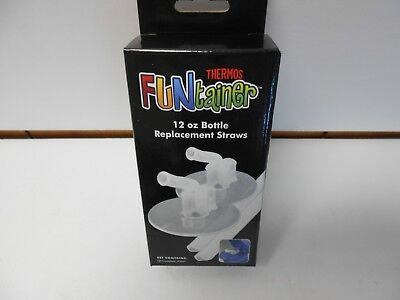 2 packs Thermos Funtainer 12 oz. Replacement Straws. 2 straws per pk. Clear #640