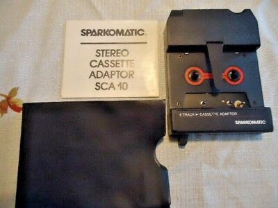 Vintage SPARKOMATIC SCA-10 Cassette - 8-track Adapter with Case and Instructions