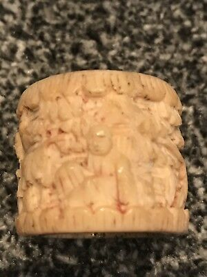 Antique Carved Archers Ring , Natural Material