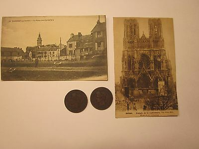 Coins France 1886-89 Antiques French Post Cards Set Of 4 Collectibles Souvenirs