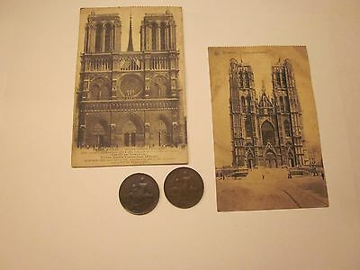Coins France 1911 1912 Antiques French Belgium Post Cards Set Of 4 Souvenirs