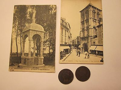 Coins France Belgium 1855-56 Antiques French Post Cards Set Of 4 Souvenirs