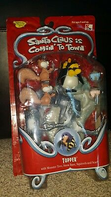 Santa Claus is Comin to Town Topper Action Figure Memory Lane 2004 NEW RARE Set