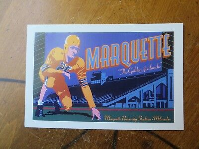 "Marquette University Stadium ""The Golden Avalanche"" Postcard"